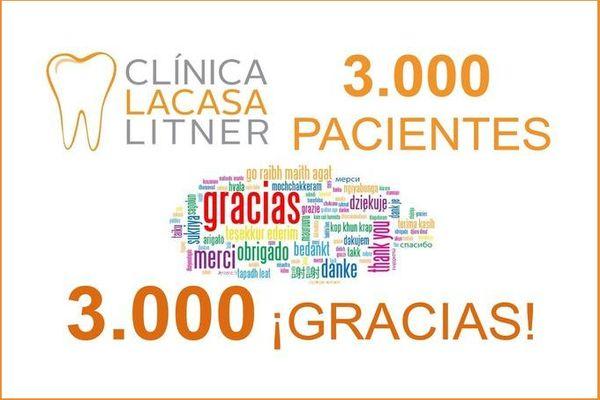 Acabamos de recibir al paciente 3.000 ¡Gracias a tod@s!