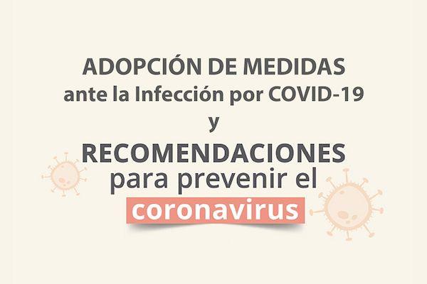 Comunicado a nuestros pacientes: Adopción de medidas ante la infección por Covid-19
